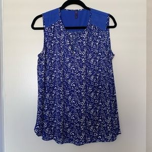 NYDJ Blue Flower Dress Sz M